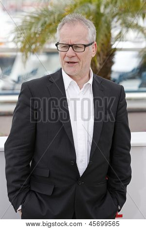 CANNES, FRANCE - MAY 15: Thierry Fremaux at the photocall for 'The Great Gatsby' at The 66th Annual Cannes Film Festival at Palais des Festivals on May 15, 2013 in Cannes, France