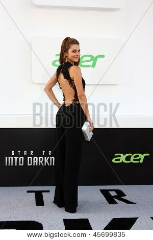 "LOS ANGELES - MAY 14:  Maria Menounos arrives at the ""Star Trek Into Darkness"" Los Angeles Premiere at the Dolby Theater on May 14, 2013 in Los Angeles, CA"