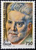 ITALY - CIRCA 1994: A stamp printed in Italy shows Giovanni Gentile circa 1994