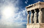picture of greek  - Parthenon in Acropolis - JPG