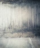 picture of wrecking  - Concrete wall background - JPG