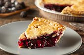 foto of cherry pie  - Homemade Organic Berry Pie with blueberries and blackberries - JPG