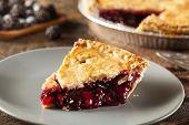 foto of cherry pie  - Homemade Organic Berry Pie with blueberries and blackberries - JPG