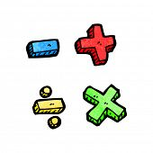 cartoon math symbols
