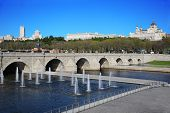 stock photo of senora  - Bridge of Segovia - JPG