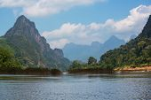 Song river at Vang Vieng, Laos