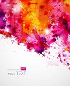 stock photo of messy  - Abstract artistic Background of bright colors - JPG