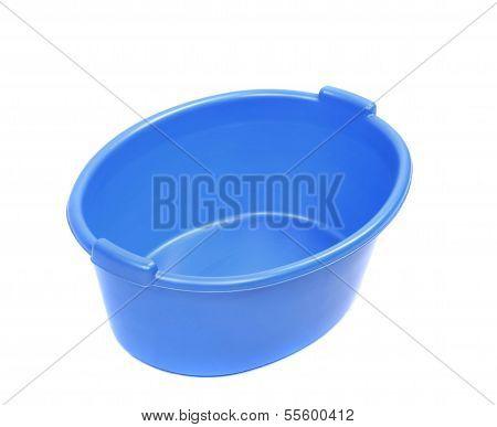 Blue washbowl.