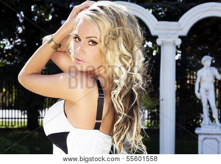 Blonde Woman Posing.