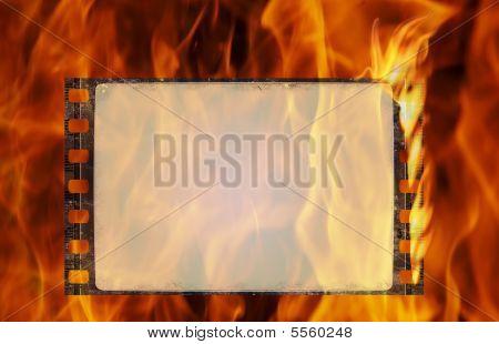 Burning Film Frame