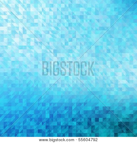 Abstract, blue geometric background.