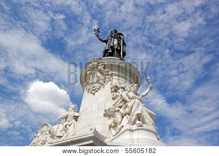 The French Republic, the statue of the republic (Paris France)