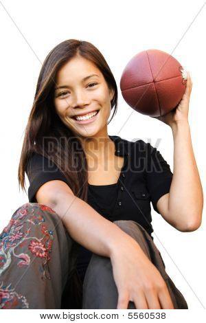 Mujer de fútbol americano