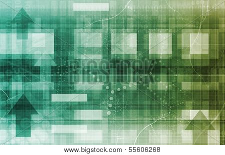 Abstract Network Illustration with System Data Art