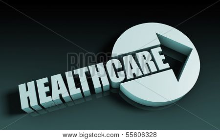 Healthcare Concept With an Arrow Going Upwards 3D