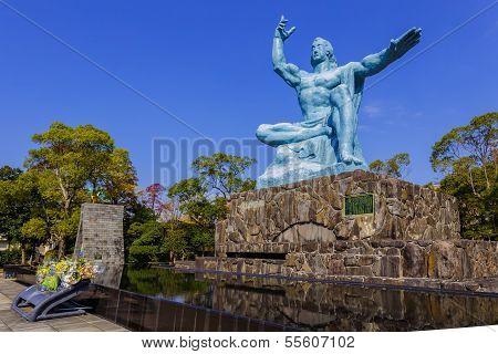 Peace Statue in Nagasaki Peace Park