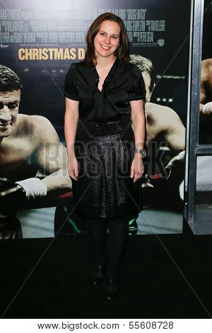 NEW YORK-DEC 16: TriBeCa Film Institute executive director Beth Janson attends the premiere of