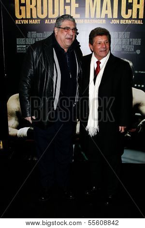 NEW YORK-DEC 16: Actor Vincent Pastore (L) and singer Frankie Avalon attend the world premiere of