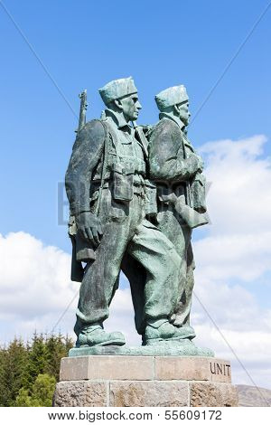 Commando Memorial at Spean Bridge, Highlands, Scotland