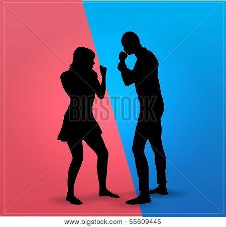 Couple argue fight