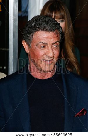 "NEW YORK-DEC 16: Actor Sylvester Stallone attends the world premiere of ""Grudge Match"" at the Ziegfeld Theatre on December 16, 2013 in New York City."