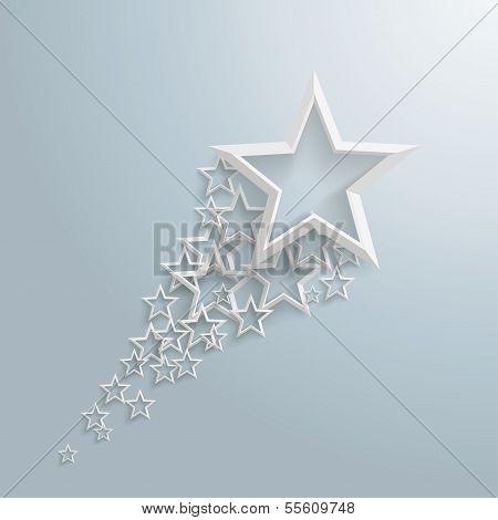 weißen Sternen Staub