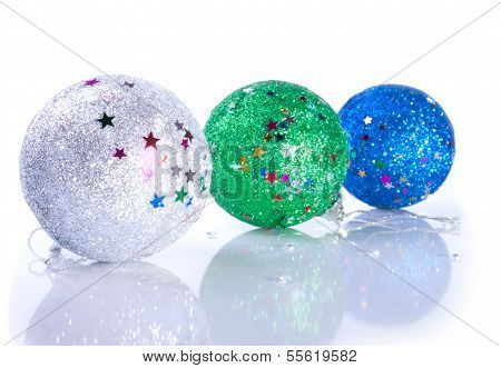 Three Glistering Christams Ball Toys