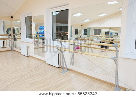 the image of a ballet barre