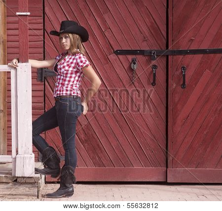 Teen Cowgirl Model