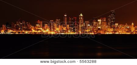 Glittering Seattle Downrtown