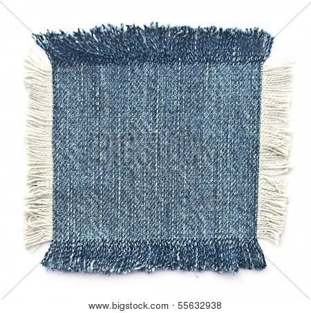 Fabric with denim. Isolated on white.