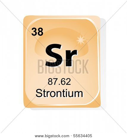 Strontium chemical element with atomic number, symbol and weight