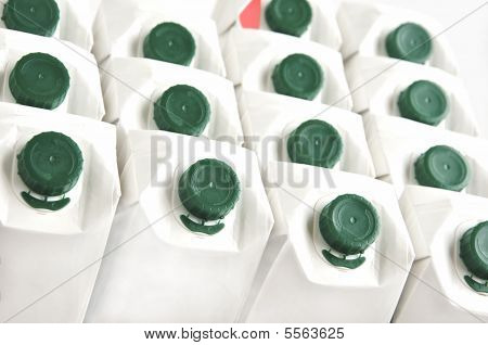 Background Of Milk Cartons.