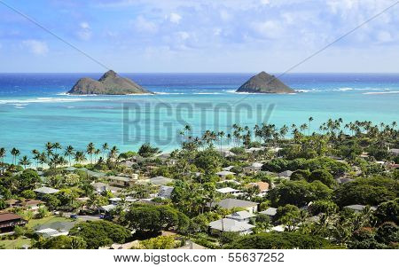 Twin Islands in Lanikai Hawaii