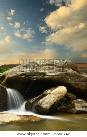 Waterfalls Cloudy