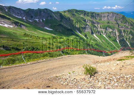 ski track in summer (Krasnaya Polyana, Russia)
