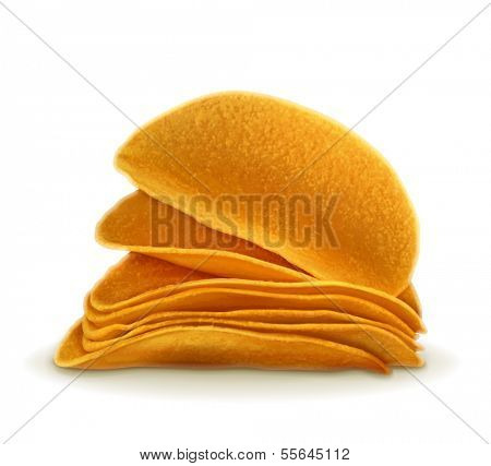 Potato chips, vector illustration
