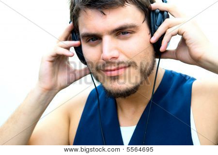 Attractive Man With Headphones