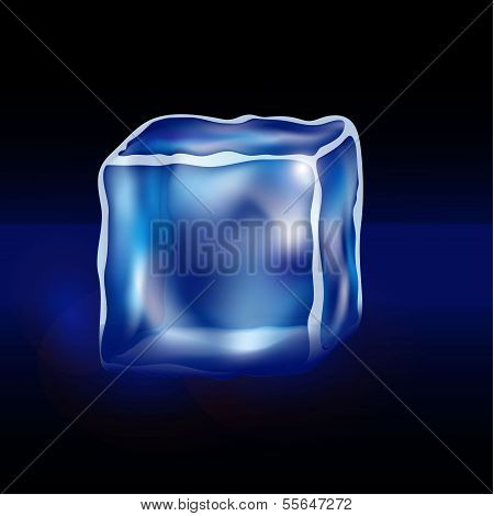 blue cubes on a black background
