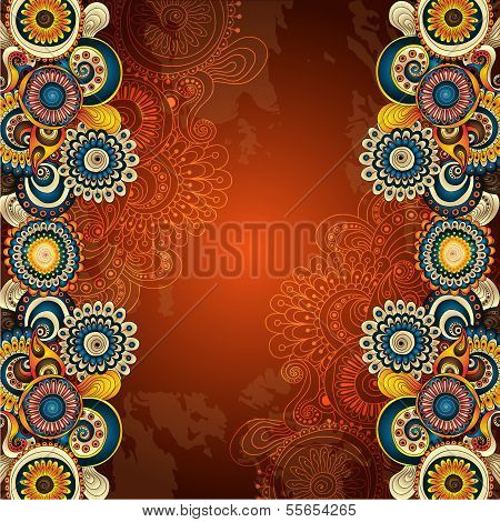 Vector abstract floral decorative background.