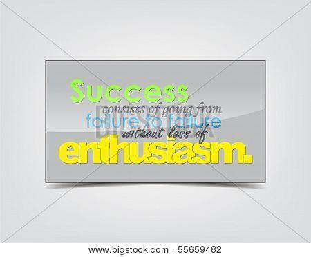 Success Motivational Background