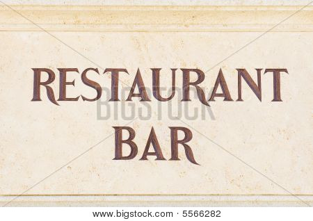 Restaurant Bar Sign