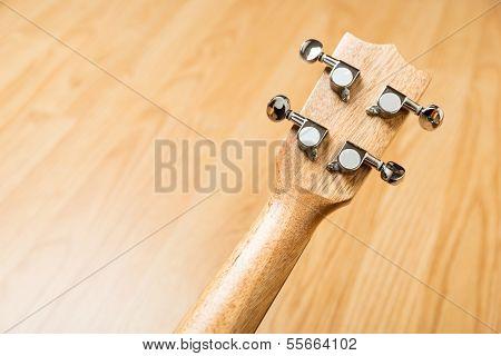 Headstock of Ukulele Hawaiian Guitar