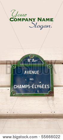 Street plate for Avenue des Champs Elysees