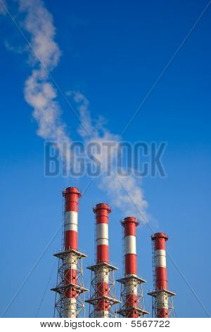 Four Factory Chimney