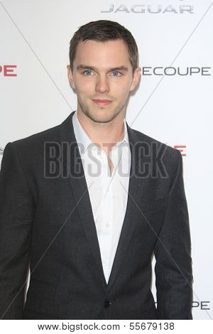LOS ANGELES - NOV 19: Nicholas Hoult at the Jaguar F-TYPE Coupe launch party at Raleigh Studios on November 19, 2013 in Playa Vista, California