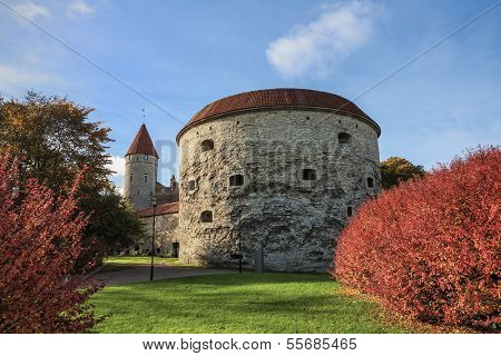 One of the most famous landmarks of Tallinn - an old tower called Fat Margaret