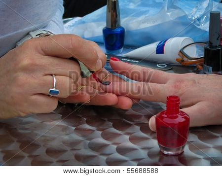 Red Nail Painting