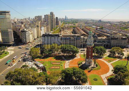 View of Retiro region of Buenos Aires.