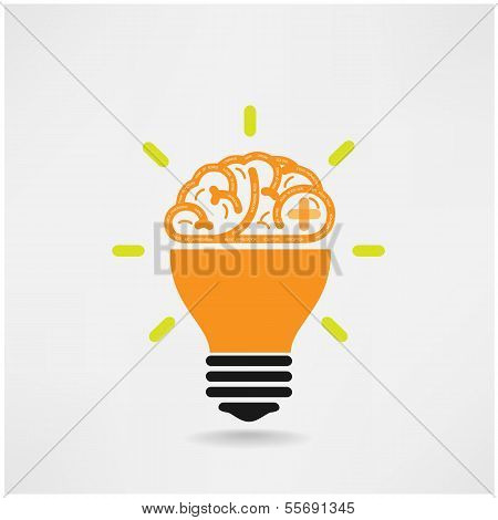 Creative Brain Symbol,creativity Sign,business Symbol,knowledge And Education Icon